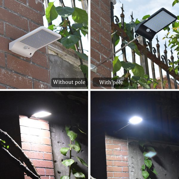 Solar Light Color Adjustable With Controller 48 led - Waterproof