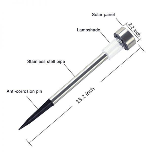 Led Solar Light For Garden/Yard Outdoor Pathway Waterproof (10 pieces)