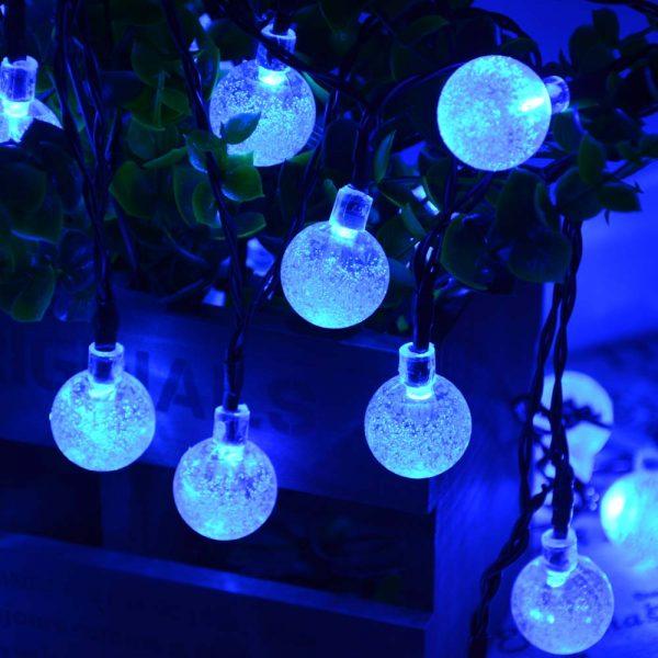Solar Powered Crystal Balls Solar Powered - 20ft 30 LED