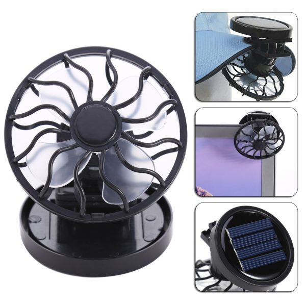 Solar Powered Clip-On Cooling Fan
