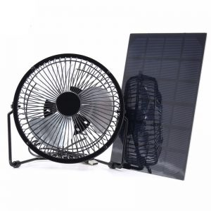 Solar Panel Powered + USB 5W Iron Fan