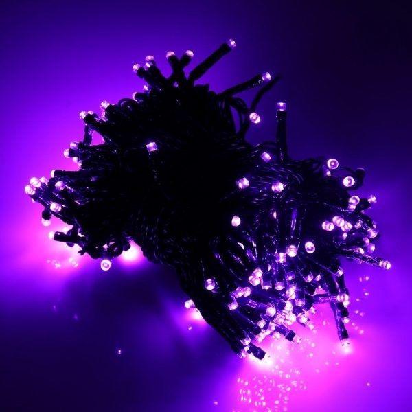 Purple Solar String Lights for Halloween & Christmas