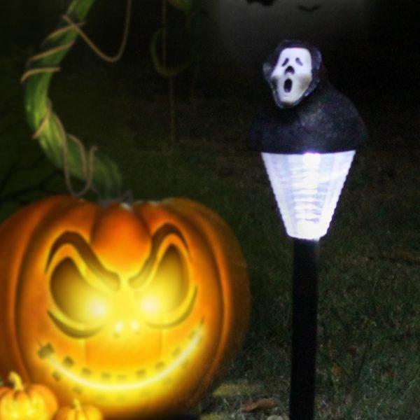 2 Pack Halloween Solar Lawn Light Pumpkin/Ghost