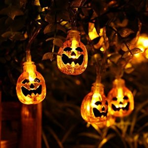 Halloween String Lights Solar Powered 21 ft