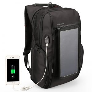 Solar Powered Backpack 15.6 inches USB Charging Bags