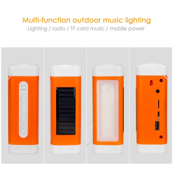 Solar Flashlight, Speaker & USB Charger