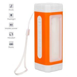 Solar Flashlight, Speaker & USB Charger