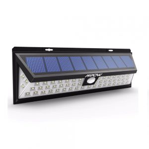 Solar 54 LED Motion Sensor Security Light - Waterproof Wide Angle & Long Range