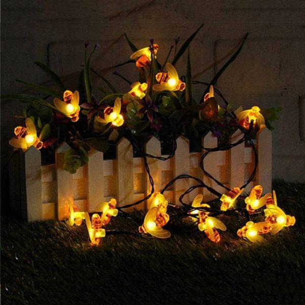 Solar Honey Bee Garden String Light 15ft 30 LED