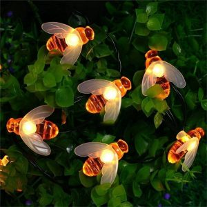 Solar Honey Bee Garden String Light 15ft 30 LED