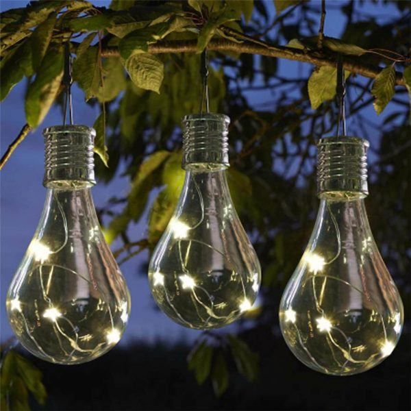 Waterproof Solar Garden Hanging Stars Lights
