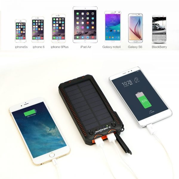 Solar Power Bank Portable 15000 mAh