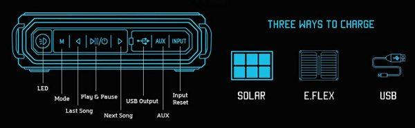 solar bank and speaker